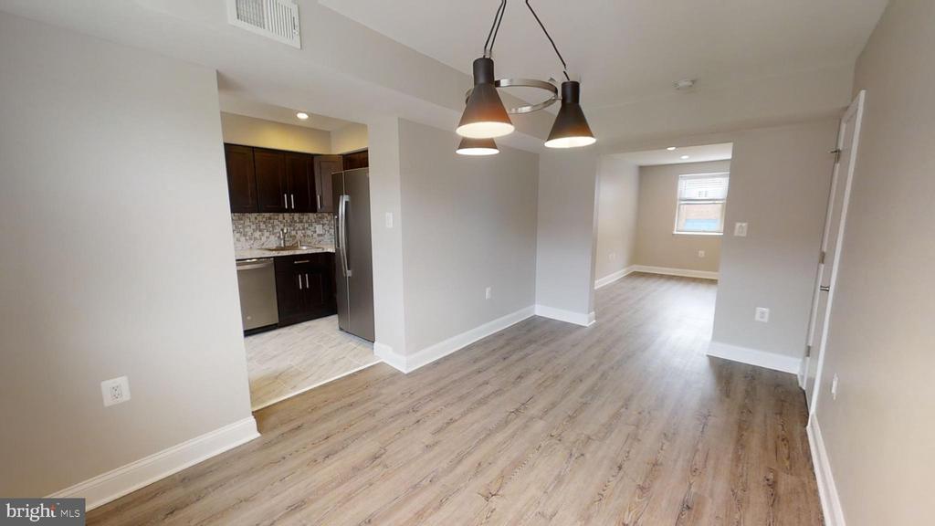 Dining Area Facing Kitchen and Living Room - 2646 BIRNEY PLACE SE SE #201, WASHINGTON