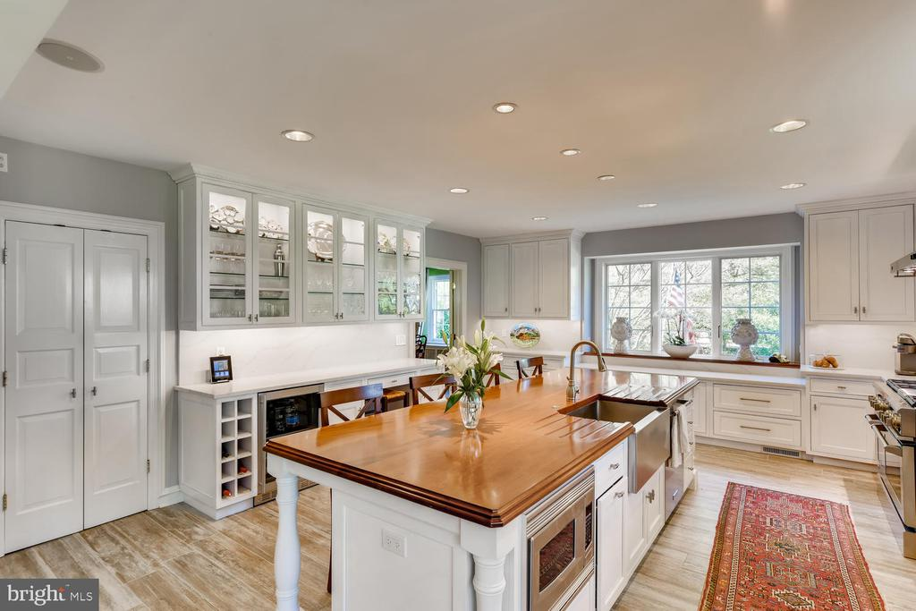 Stunning white Kitchen, coffee bar, desk, pantry - 1209 BERWICK RD, TOWSON