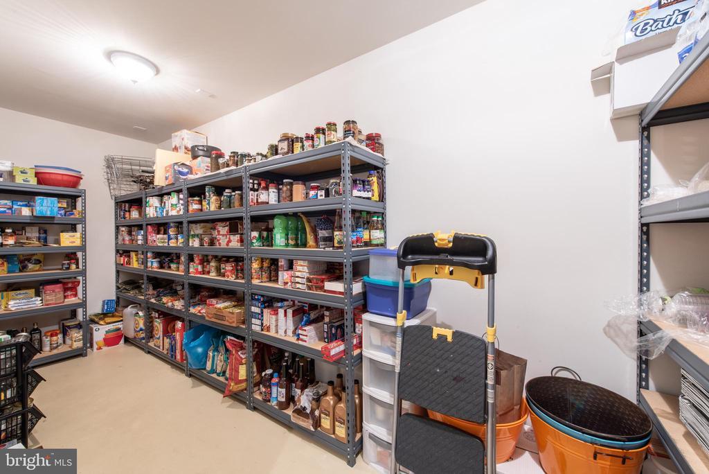 Basement  extra large pantry - 27531 PADDOCK TRAIL PL, CHANTILLY