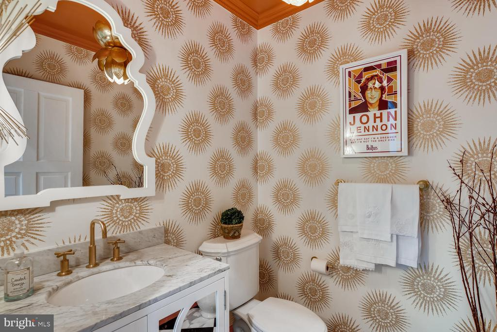 High home fashion - one of two powder rooms - 1209 BERWICK RD, TOWSON
