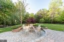 Patio outdoor fireplace - 27531 PADDOCK TRAIL PL, CHANTILLY