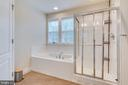 Master bath w/ a stall shower for rushed mornings - 440 FLIGHT O ARROWS WAY, MARTINSBURG