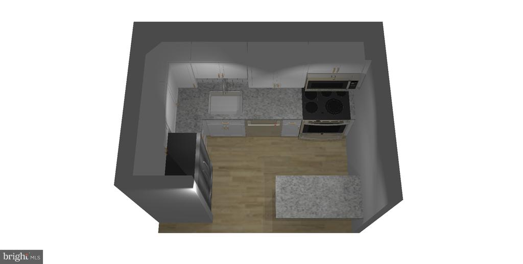 Rendition of Kitchen - 7358 LEE HWY #T1, FALLS CHURCH