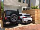 One car parking.  Unit #1's parking is on the left - 1015 D ST NE #A, WASHINGTON
