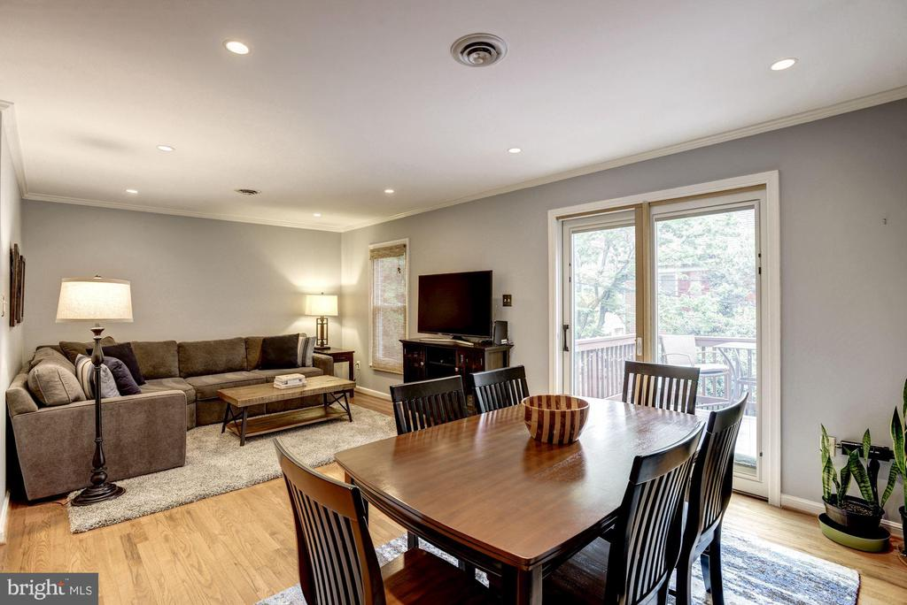 Dining Room Opens Beautifully to Living Room - 1145 N UTAH ST #1145, ARLINGTON