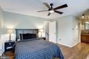 Master Bedroom #1 - Overhead Ceiling Fan & Light - 1145 N UTAH ST #1145, ARLINGTON