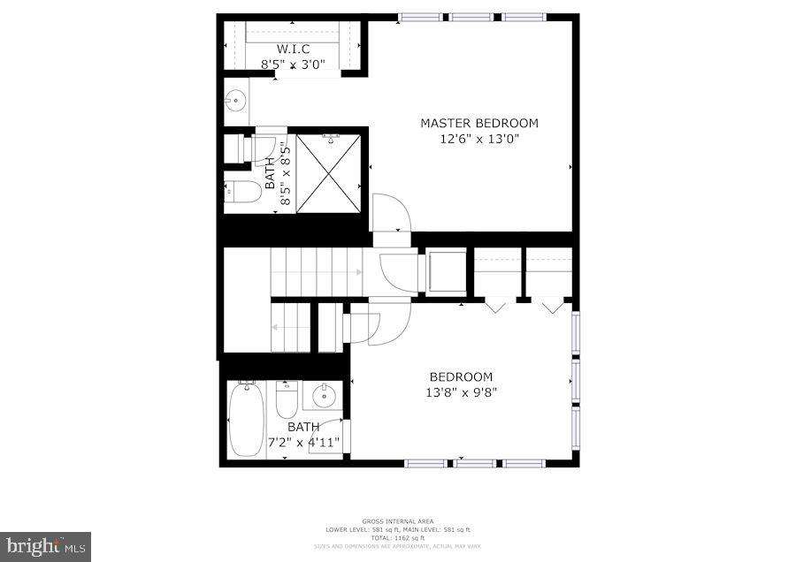 Floor Plan - Upper Level - 1145 N UTAH ST #1145, ARLINGTON