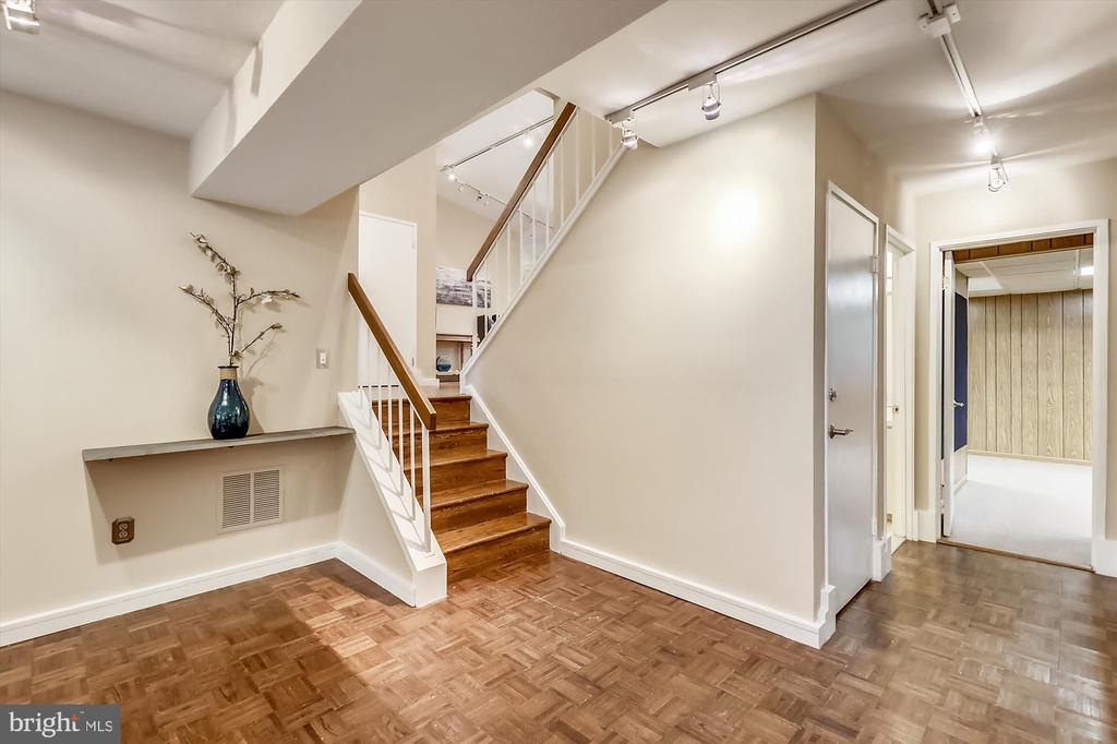 Lower Level Stairs - 6604 PERSIMMON TREE RD, BETHESDA