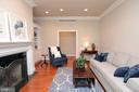 Living room w/ 2nd wood burning fireplace with gas - 9600 TERRI DR, LA PLATA