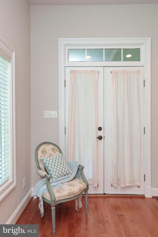 Master bedroom french doors to back porch - 9600 TERRI DR, LA PLATA