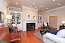 Living room with built-in shelves & recessed light - 9600 TERRI DR, LA PLATA