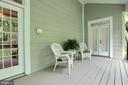 Back porch with access from master bedroom - 9600 TERRI DR, LA PLATA