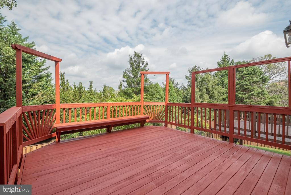 Large deck off kitchen - 14090 RED RIVER DR, CENTREVILLE