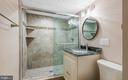 Just remodeled bathroom on the lower level - 104 FOGLE DR, ANNAPOLIS
