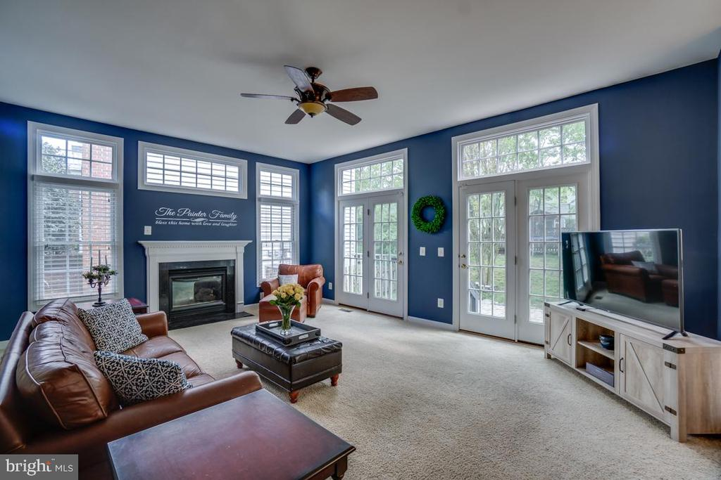 Bright and light family room leads to private yard - 26022 GLASGOW DR, CHANTILLY