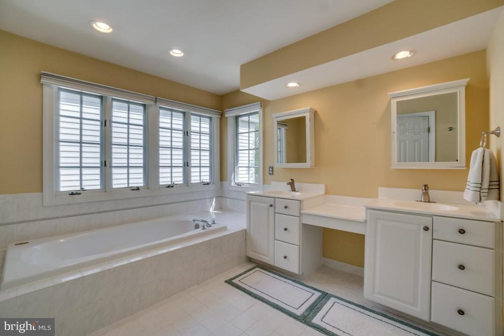 Master bath w/soaking tub - 26022 GLASGOW DR, CHANTILLY