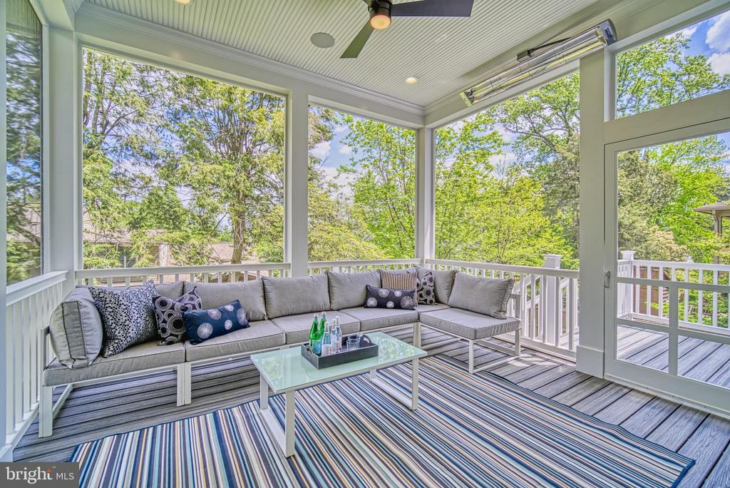 Screened porch w/ceiling heaters, wired speakers - 3511 N POTOMAC ST, ARLINGTON