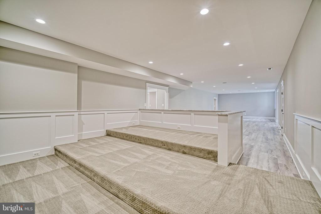 Basement Theater room with tiered ceiling - 3511 N POTOMAC ST, ARLINGTON