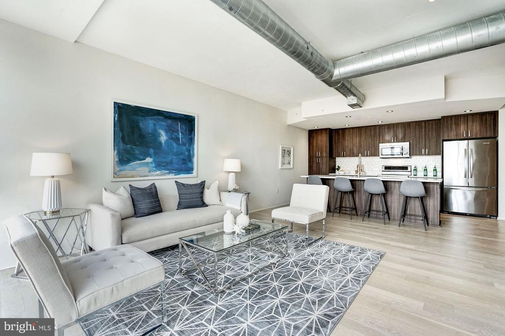 Living Room and Kitchen - 3409 WILSON BLVD #504, ARLINGTON