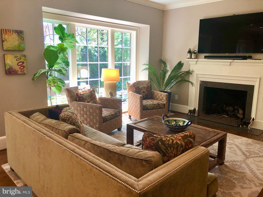 Family Room with Gas fireplace - 412 WOLFE ST, ALEXANDRIA