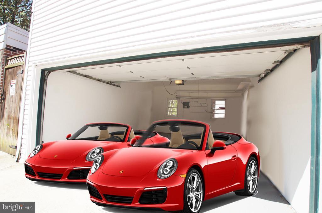 Two car garage - 719 NORTH CAROLINA AVE SE, WASHINGTON