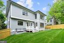 lushly sodded rear yard with mature trees - 5010 25TH RD N, ARLINGTON