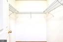 Master Bedroom Walk In Closet - 7109 SILVERLEAF OAK RD #164, ELKRIDGE
