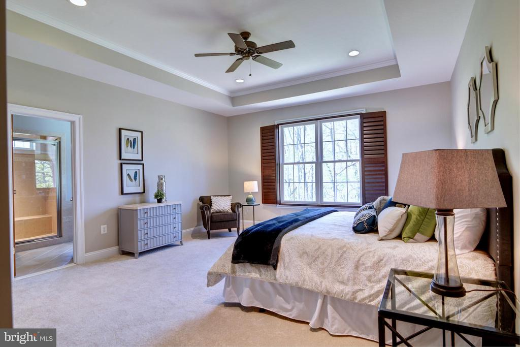 Main Level Master Bedroom - 12371 TAYLORSTOWN RD, LOVETTSVILLE