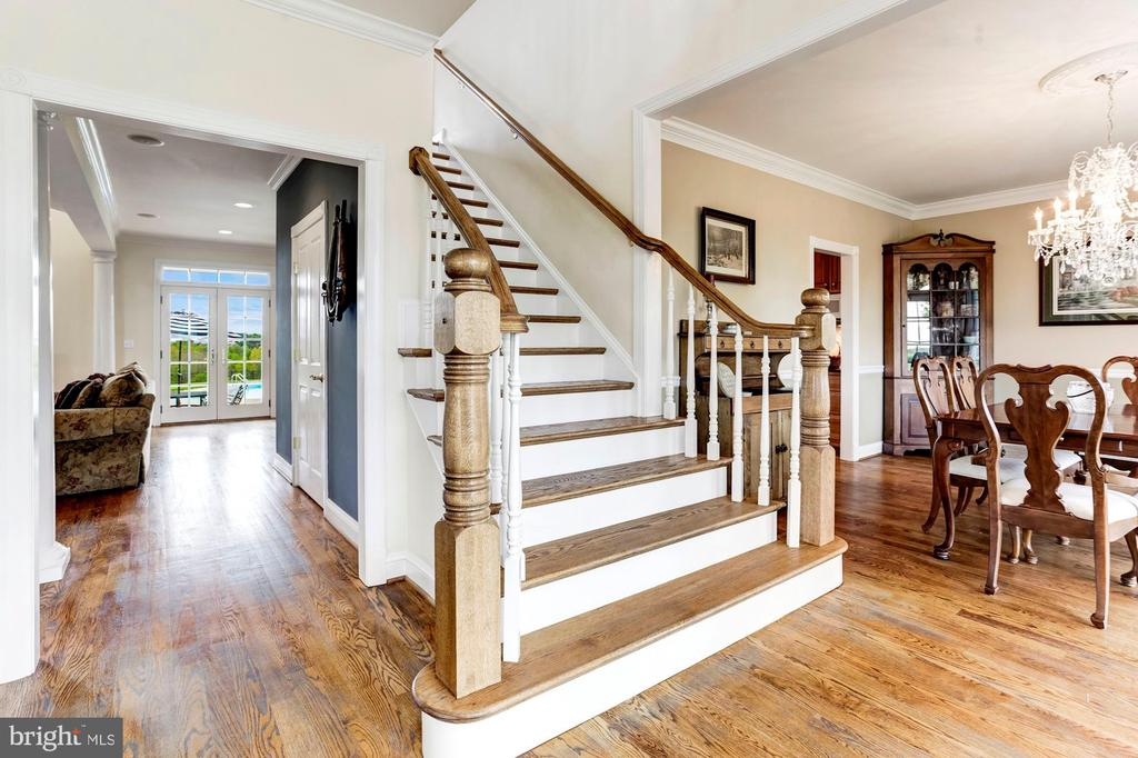 Open Stair Sided by Living and Dining Formals - 6655 DETRICK RD, MOUNT AIRY