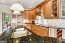 Kitchen Island and Pendants - 6655 DETRICK RD, MOUNT AIRY