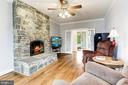 Den/Study with Stone Fireplace - 6655 DETRICK RD, MOUNT AIRY