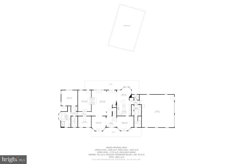 Main Level Floor Plan - 6655 DETRICK RD, MOUNT AIRY