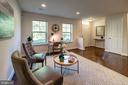 Entry level office/recreation room w/ treed views - 116 WATERLINE CT, ANNAPOLIS