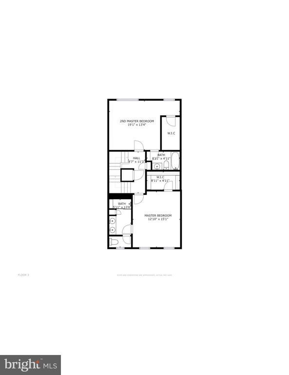 Upper level floorplan - 116 WATERLINE CT, ANNAPOLIS