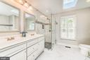 Newly updated luxury master bath - 1331 STOKLEY WAY, VIENNA