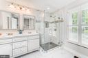Stunning, newly renovated master bath! - 1331 STOKLEY WAY, VIENNA