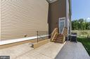 Rear Patio and Basement Walk-out Stair - 450 EMBREY MILL RD, STAFFORD