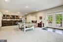Game Area & Walk-out to Patio - 13029 HIGHGROVE RD, HIGHLAND