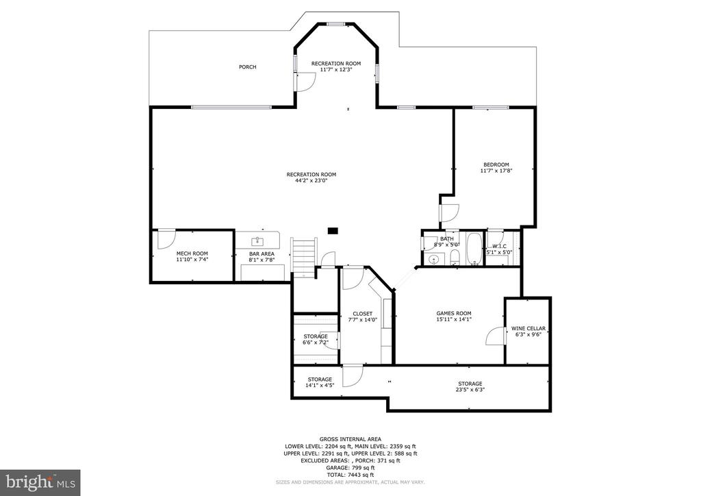 6 Purcell Court Lower Level Floorplan - 6 PURCELL CT, POTOMAC