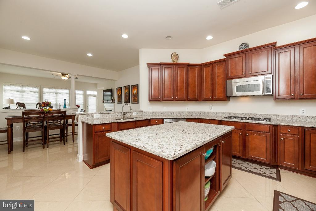 Open concept, eat-in gourmet kitchen to family rm - 42426 IBEX DRIVE, STERLING