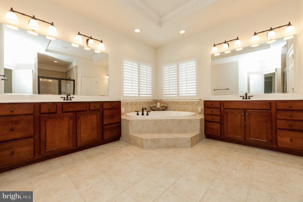 Grand master suite w Roman tub and sep vanities - 42426 IBEX DRIVE, STERLING