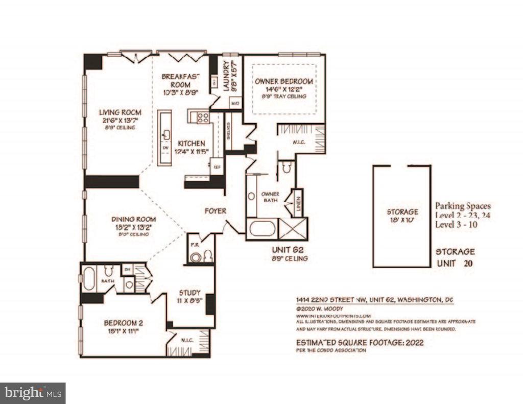 Floor Plan - 1414 22ND ST NW #PH 62, WASHINGTON