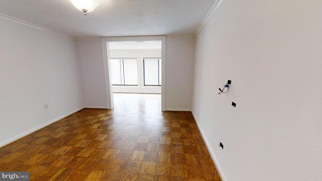 LIVING ROOM with Sliding Hideaway doors to Din. Rm - 1718 P ST NW #207, WASHINGTON
