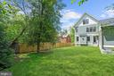 Private, fenced rear yard, mature trees and shrubs - 4856 33RD RD N, ARLINGTON
