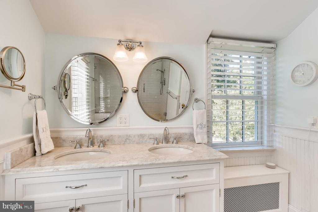 Bathroom Three with marble tile floor - 1209 BERWICK RD, TOWSON