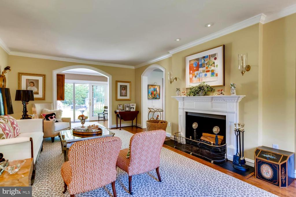 Living Room with wood burning fireplace - 1209 BERWICK RD, TOWSON