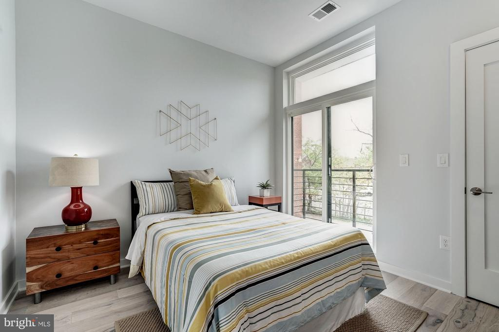 Second bedroom with balcony - 1507 RHODE ISLAND AVE NE #7, WASHINGTON