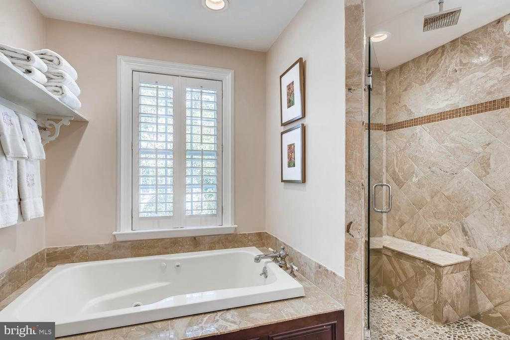 Master Bath soaking  tub, shower, water closet - 1209 BERWICK RD, TOWSON