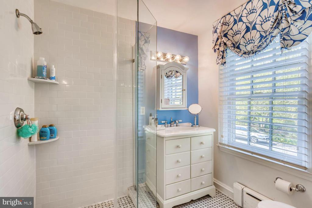 Bathroom Two with shower; marble tile floor - 1209 BERWICK RD, TOWSON