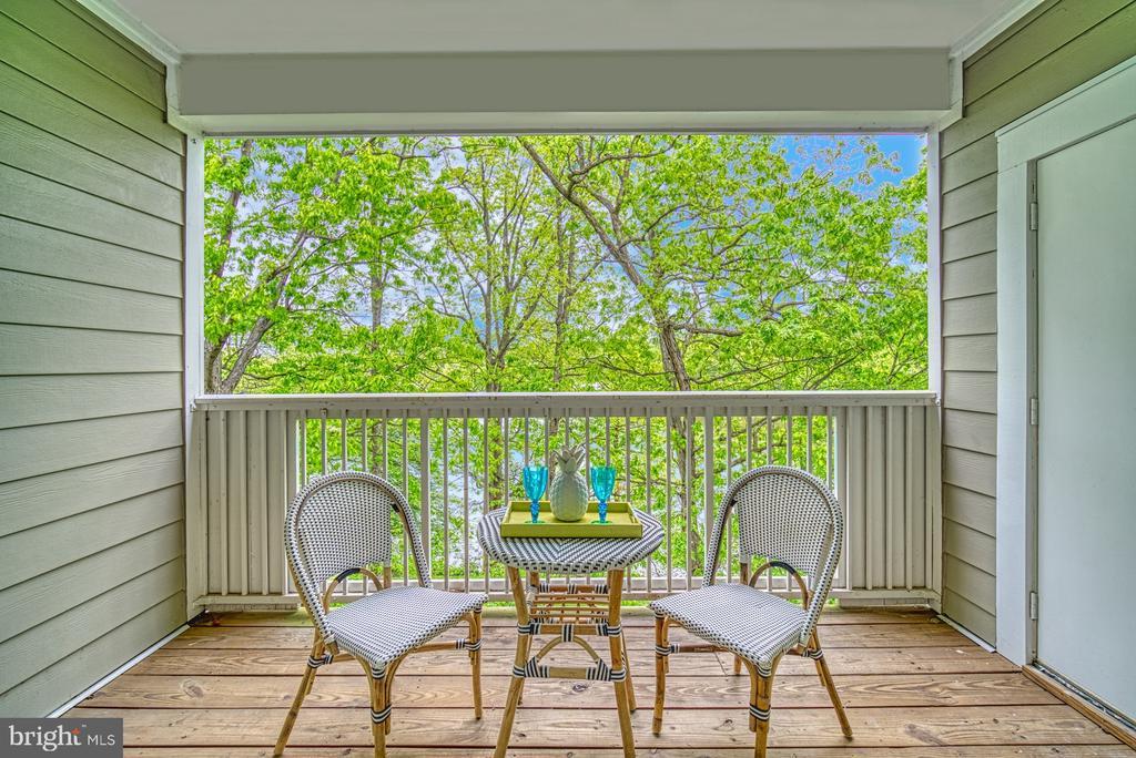 Romantic Balcony overlooking lake - 1720 LAKE SHORE CREST DR #34, RESTON